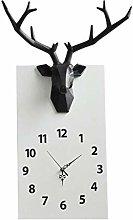HEZHANG Wall Clock Nordic Wall Clock Solid Wood