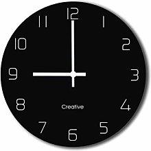 HEZHANG Wall Clock Quartz Clock Wall Clock Stereo