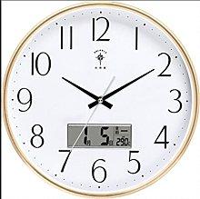 HEZHANG Wall Clock Room Home Wall Clock Round Mute