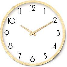 HEZHANG Wall Clock Wooden Wall Clock Simple Wood