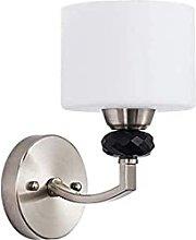 HEZHANG Wall Lamp Chrome Waterproof with Lampshade