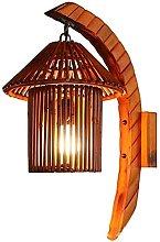 HEZHANG Wall Lamp Natural Bamboo with Hollow