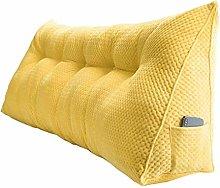 HEZHANG Yellow Bedside Cushion Triangle Cushion
