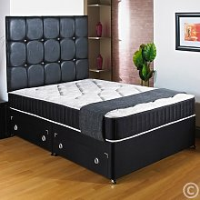Hf4you New Ortho Black Deep Quilted Divan Bed -