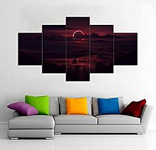 HFDSA Print Painting Canvas, 5 Pieces Abstract,