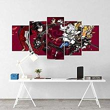 HFDSA Print Painting Canvas, 5 Pieces Anime Canvas