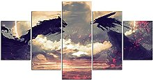 HFDSA Print Painting Canvas, 5 Pieces Anime Manga.
