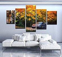 HFDSA Print Painting Canvas, 5 Pieces Car Canvas