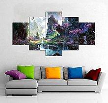 HFDSA Print Painting Canvas, 5 Pieces Colorful