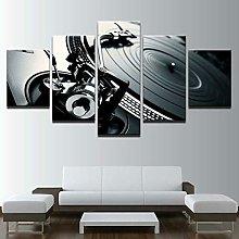 HFDSA Print Painting Canvas, 5 Pieces Dj Turntable