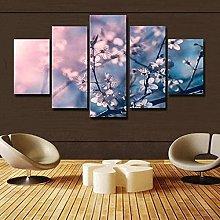 HFDSA Print Painting Canvas, 5 Pieces Flowers