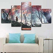 HFDSA Print Painting Canvas, 5 Pieces Gaming