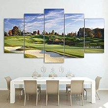 HFDSA Print Painting Canvas, 5 Pieces Golf Course