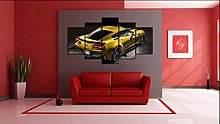 HFDSA Print Painting Canvas, 5 Pieces Muscle Car