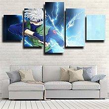 HFDSA Print Painting Canvas, 5 Pieces Narut Canvas