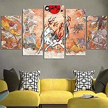 HFDSA Print Painting Canvas, 5 Pieces Okami