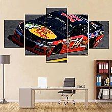 HFDSA Print Painting Canvas, 5 Pieces Racing Car