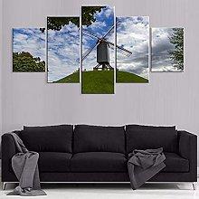 HFDSA Print Painting Canvas, 5 Pieces Scenery