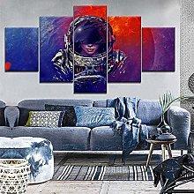 HFDSA Print Painting Canvas, 5 Pieces Space