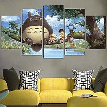 HFDSA Print Painting Canvas, 5 Pieces Totoro