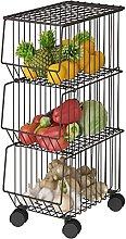 HFVDA 2/3/4/5 Tier Kitchen Storage Rack, Stackable