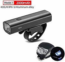 HGDD Bike Headlight Compatible with 2000mAh