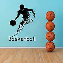 HGFDHG Basketball wall decals player dribble mural