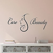 HGFDHG Care beauty logo wall decal massage hair