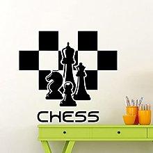HGFDHG Chess Club Wall Decal Word Chess