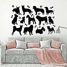 HGFDHG Dog Silhouette Wall Decal Cute Puppy Vinyl
