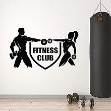 HGFDHG Fitness club wall decal logo iron sports