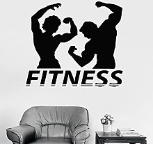 HGFDHG Fitness Wall Decal Couple Muscle