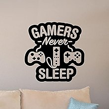 HGFDHG Game Wall Decals Gamers Never Sleep Quote