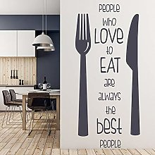 HGFDHG Kitchen Quotes Wall Decals Lovers Doors and