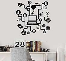 HGFDHG Laptop Wall Decal Computer Internet Social