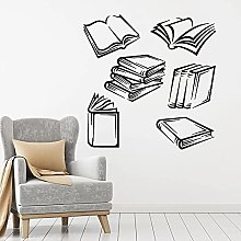 HGFDHG Open book wall decals library bookstore