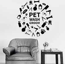 HGFDHG Pet Shampoo Grooming Wall Decal Shower Pet