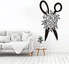 HGFDHG Scissors flower wall decals sewing tailor