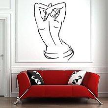HGFDHG Spa salon wall decals woman body vinyl wall