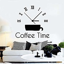 HGFDHG Time Clock Wall Stickers Creative Drink Cup