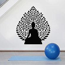 HGFDHG Tree Wall Decal Buddhist Zen Yoga