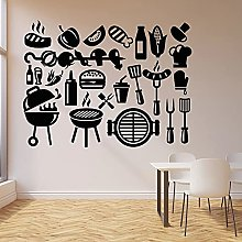 HGFDHG Vinyl wall decals kebab barbecue fast food