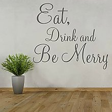 HGFDHG Wall sticker quotes for food and drink,