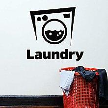 HGFDHG Washing machine wall decals laundry room