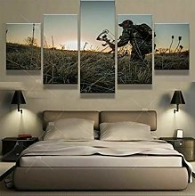 HGFDS prints on canvas 5 piece Print Wall Art Bow