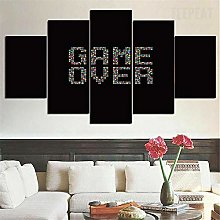 HGFDS prints on canvas 5 piece Print Wall Art Game