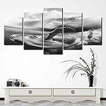 HGFDS prints on canvas 5 piece Print Wall Art Hd