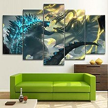 HGFDS prints on canvas 5 piece Print Wall Art