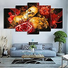 HGFDS prints on canvas 5 piece Print Wall Art Rose