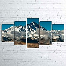 HGFDS The Picture 5 pieces Canvas Wall Art
